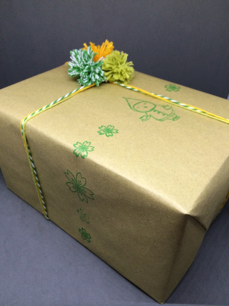 Custom Stamped Gift Wrap by Hugs are Fun